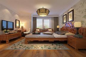 中式风格 二居 宜家 装修设计 卧室图片来自业之峰装饰旗舰店在微霞尚满天的分享