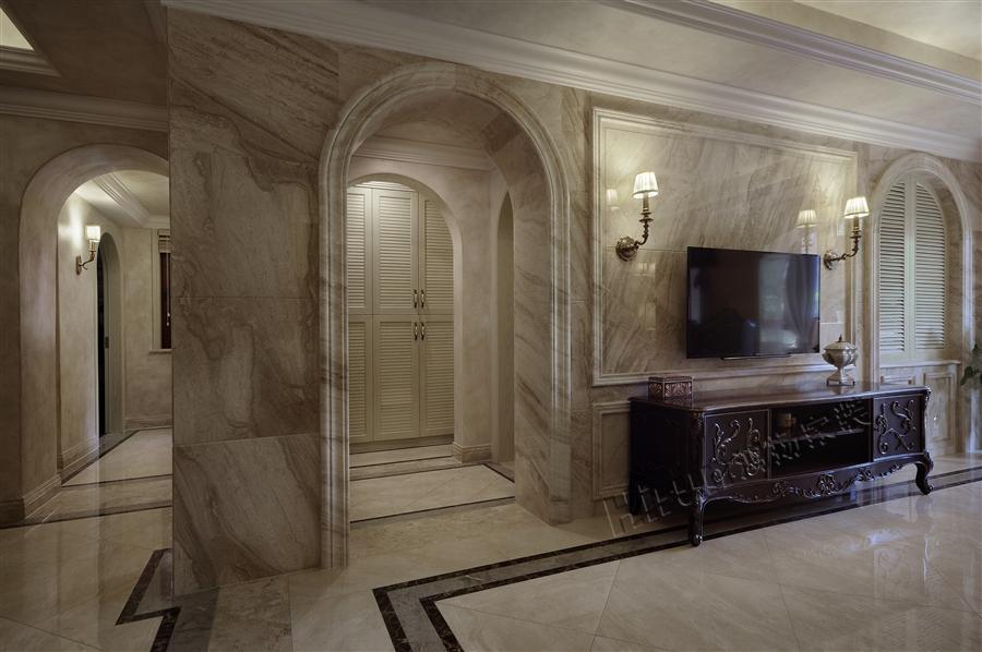 欧式 混搭 别墅 小资 客厅图片来自鸿扬家装武汉分公司在碧桂园之欧陆风情的分享
