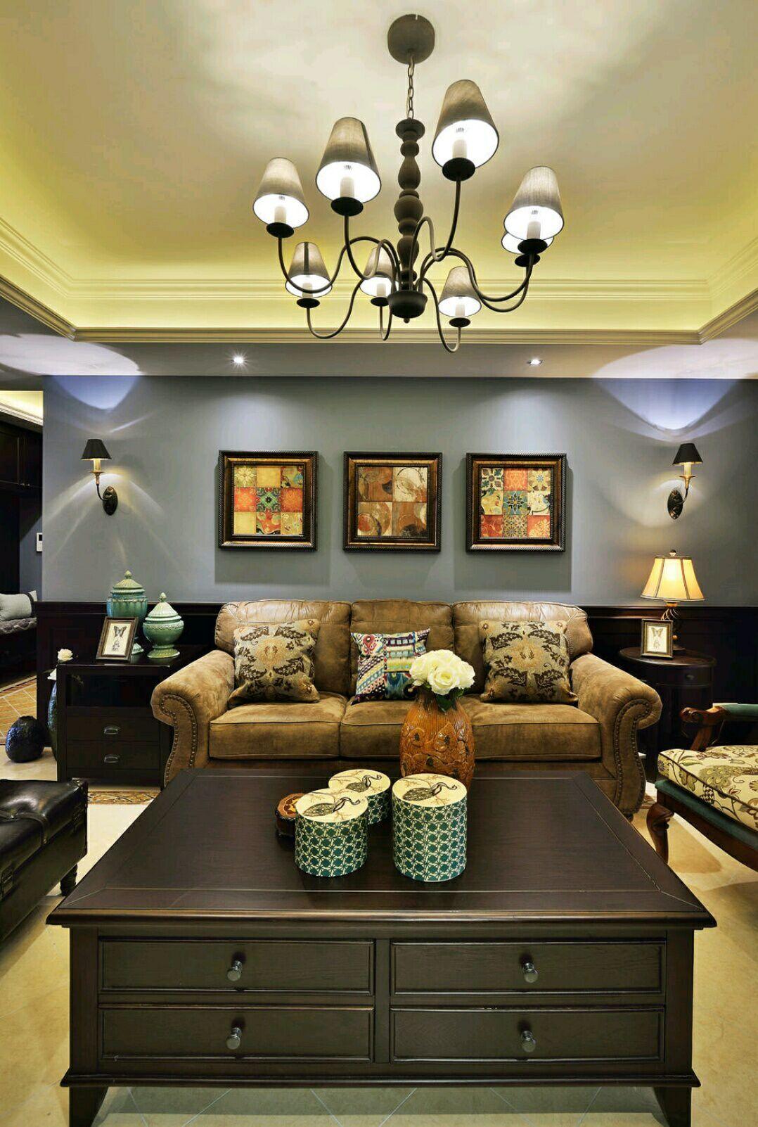 四居室 美式风格 兰亭时代 嘉年华装饰 140平 客厅图片来自武汉嘉年华装饰在空间感超强的美式风格的分享