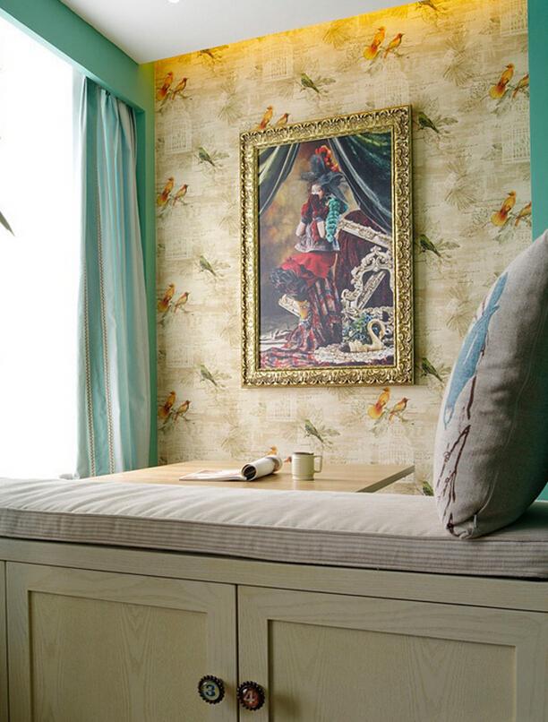简约 美式 田园 小清新 卧室图片来自四川幸福魔方装饰在【幸福魔方装饰】美式田园小清新的分享