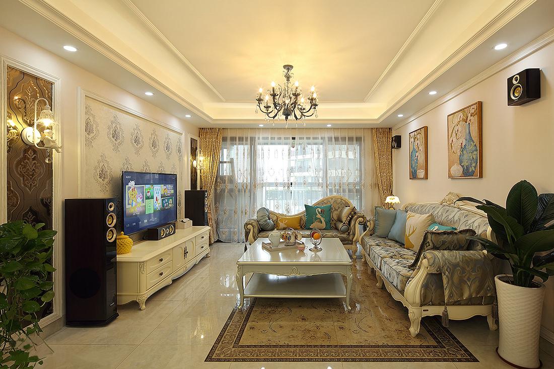三居 客厅图片来自金煌装饰有限公司在17万装出156平唯美简欧小豪宅的分享
