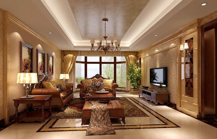 三居 欧式 田园 装修 设计 客厅图片来自张邯在高度国际-金隅翡丽4的分享