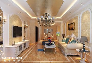 巴黎第五区120平欧式风格三居室