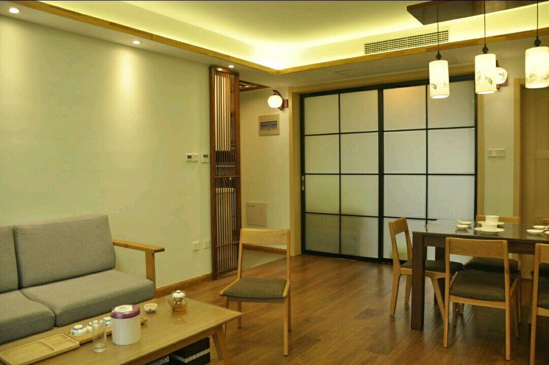 三居 日式 史丹佛公馆 95平 嘉年华装饰 客厅图片来自武汉嘉年华装饰在苹果绿和原木色日式风格的分享