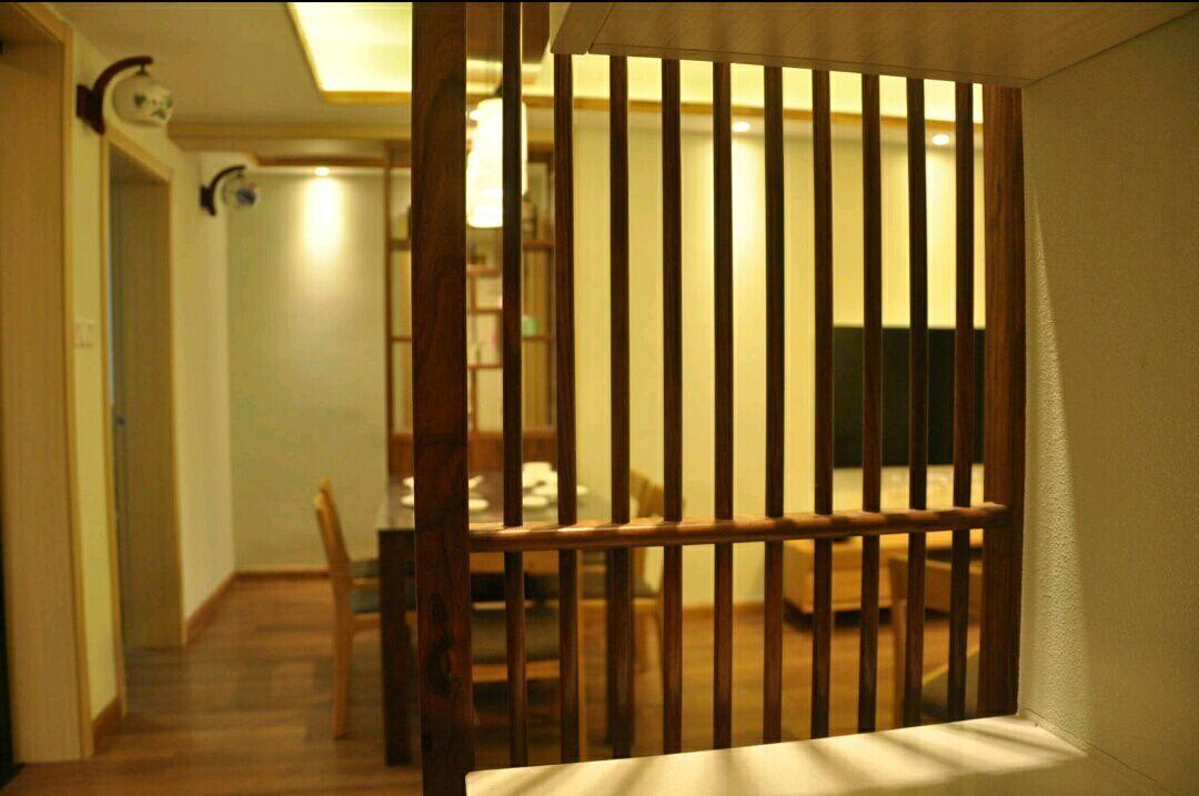 三居 日式 史丹佛公馆 95平 嘉年华装饰 玄关图片来自武汉嘉年华装饰在苹果绿和原木色日式风格的分享