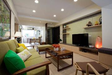 125平休闲感十足的木质暖宅