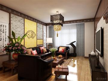 新中式风格  象博豪庭  86.9㎡