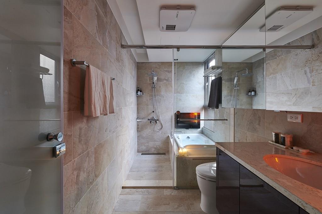 简约 三居 小资 卫生间图片来自武汉全有装饰在复地东湖国际158现代简约风的分享
