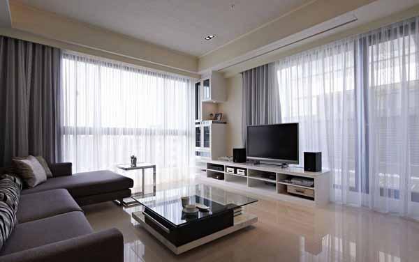 三居 小资 客厅图片来自上海潮心装潢设计有限公司在128平美式风格三居室装修案例的分享