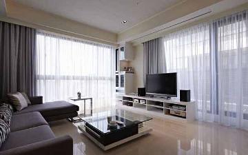 128平美式风格三居室装修案例