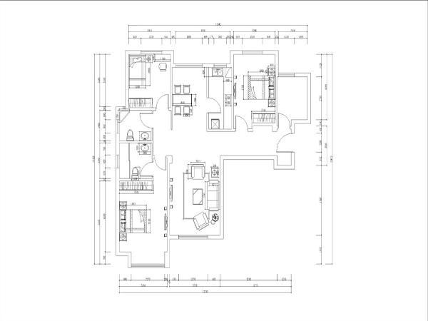 该户户型为宝能城国际社区,3室2厅2卫,建筑面积为130平米。业主为中年夫妇家中一个孩子。为了迎合业主的审美和要求,我们为此设计了中式风格的设计。宝能城的该户户型坐北朝南,阳光通透,空气流通。