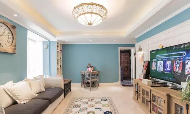 简约 欧式 田园 混搭 二居 三居 别墅 白领 收纳 客厅图片来自实创装饰晶晶在105㎡欧式大两居的分享