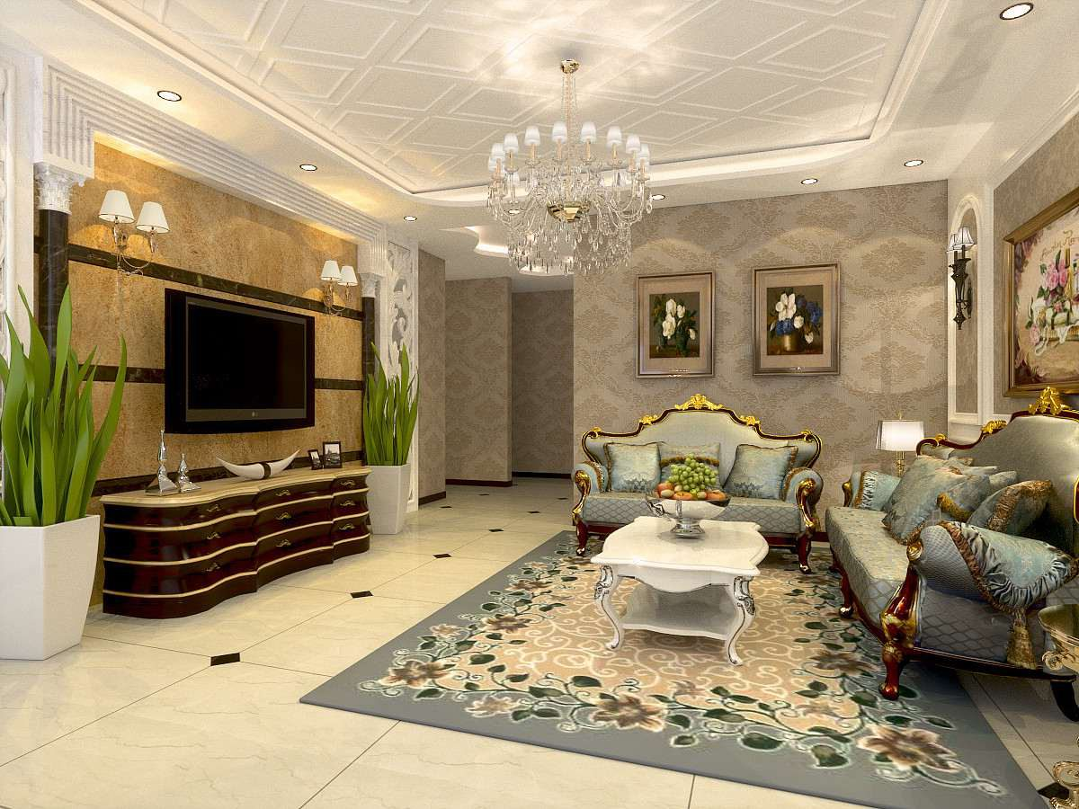 简约 欧式 二居 客厅图片来自轻舟装饰-90后的华仔在珠光帝景-88平米-现代简欧的分享