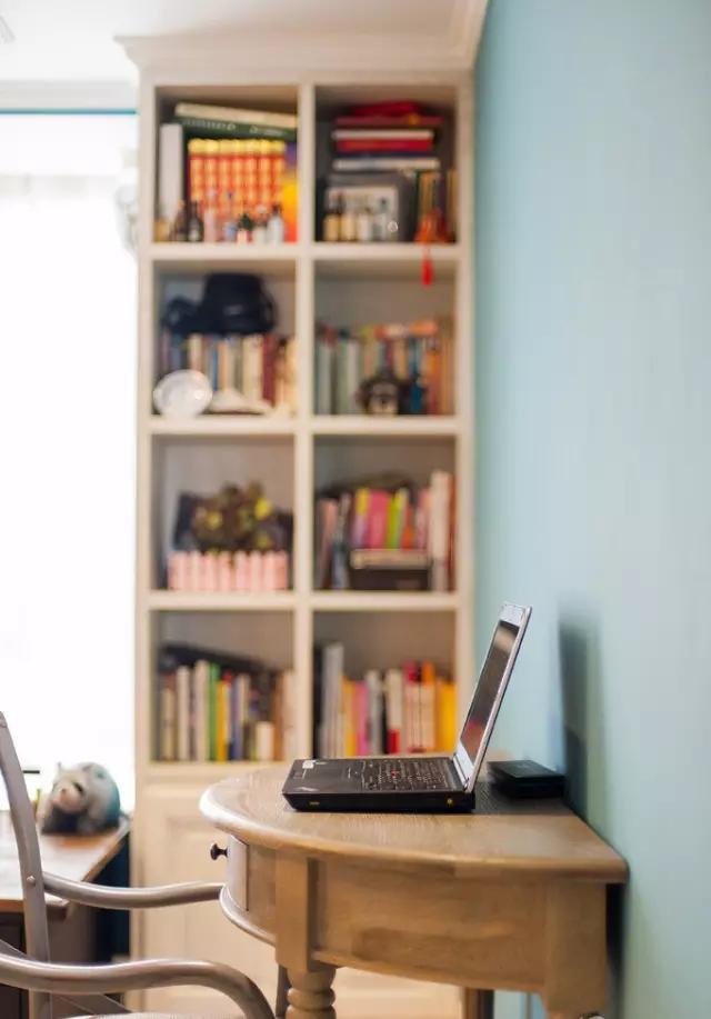 简约 欧式 田园 混搭 二居 三居 别墅 白领 收纳 书房图片来自实创装饰晶晶在105㎡欧式大两居的分享