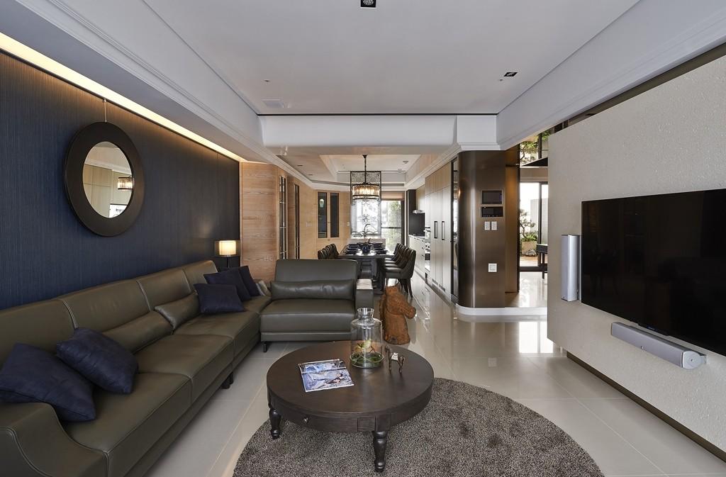 简约 三居 小资 客厅图片来自武汉全有装饰在复地东湖国际158现代简约风的分享