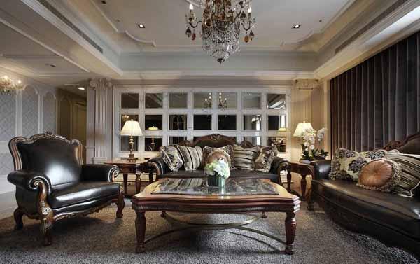 欧式 三居 客厅图片来自上海潮心装潢设计有限公司在诸新三村115平欧式三室装修设计的分享