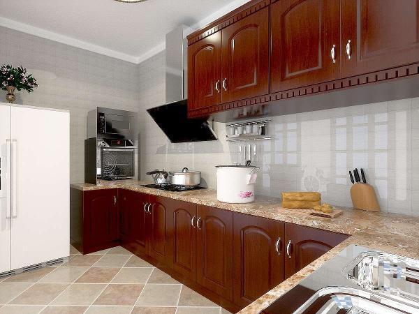 增加储物空间。将厨房设计为大推拉门厨房,使整个厨房开阔明亮,满足主人对明亮的要求。