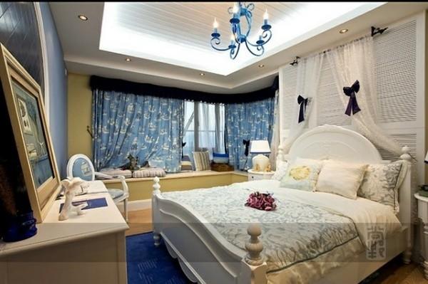 元洲装饰 居然元洲 卧室图片来自北京居然元洲装饰小尼在御翠尚府220平米复式地中海的分享
