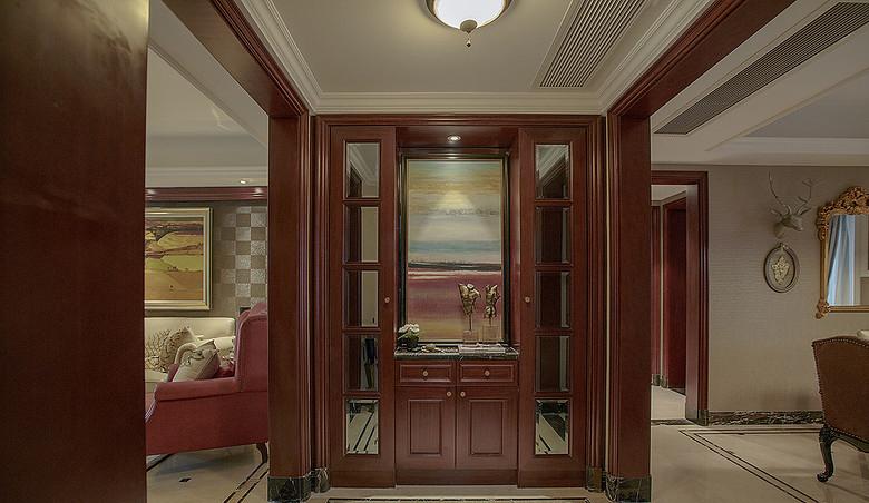 客厅图片来自家装大管家在惬意清雅 145平新中式时尚3居室的分享