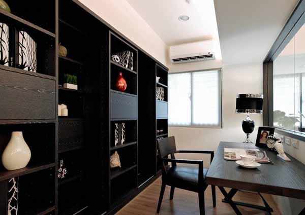 二居 旧房改造 书房图片来自上海潮心装潢设计有限公司在69平米二居室装修发挥空间最大值的分享