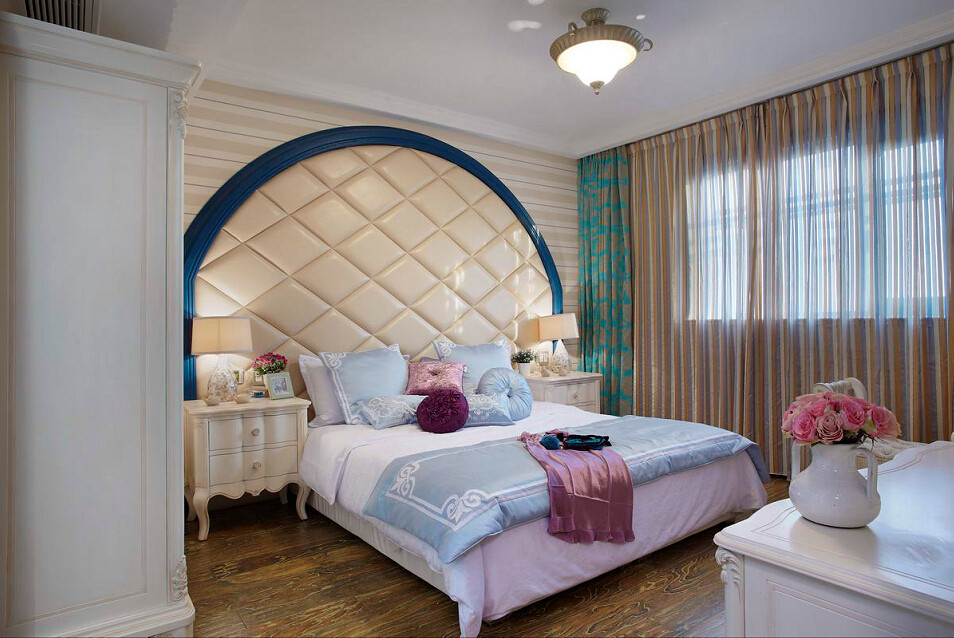 地中海 百瑞景 四居 卧室图片来自武汉全有装饰在百瑞景---地中海风格的分享