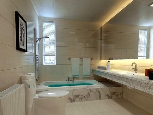 现代 三居 E家E户 卫生间图片来自武汉全有装饰在奥山世纪城90平现代风格的分享