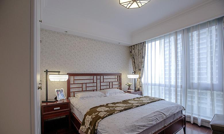 卧室图片来自家装大管家在惬意清雅 145平新中式时尚3居室的分享
