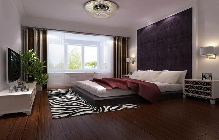 简约 三居 装修 设计 卧室图片来自张邯在高度国际-世华泊郡2的分享