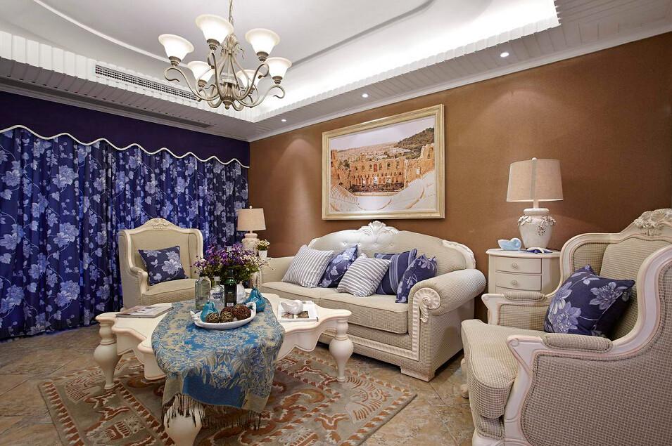 地中海 百瑞景 四居 客厅图片来自武汉全有装饰在百瑞景---地中海风格的分享