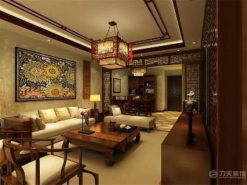 中式风格 天津湾海景文苑  115㎡