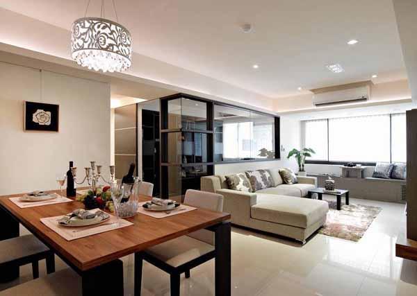二居 旧房改造 餐厅图片来自上海潮心装潢设计有限公司在69平米二居室装修发挥空间最大值的分享