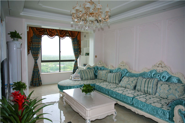 简约 欧式 二居 客厅图片来自四川幸福魔方装饰在【幸福魔方装饰】简欧风格的分享