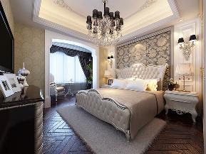 华业东方 四居 新古典 装修设计 白富美 卧室图片来自业之峰装饰旗舰店在古典风尚的分享