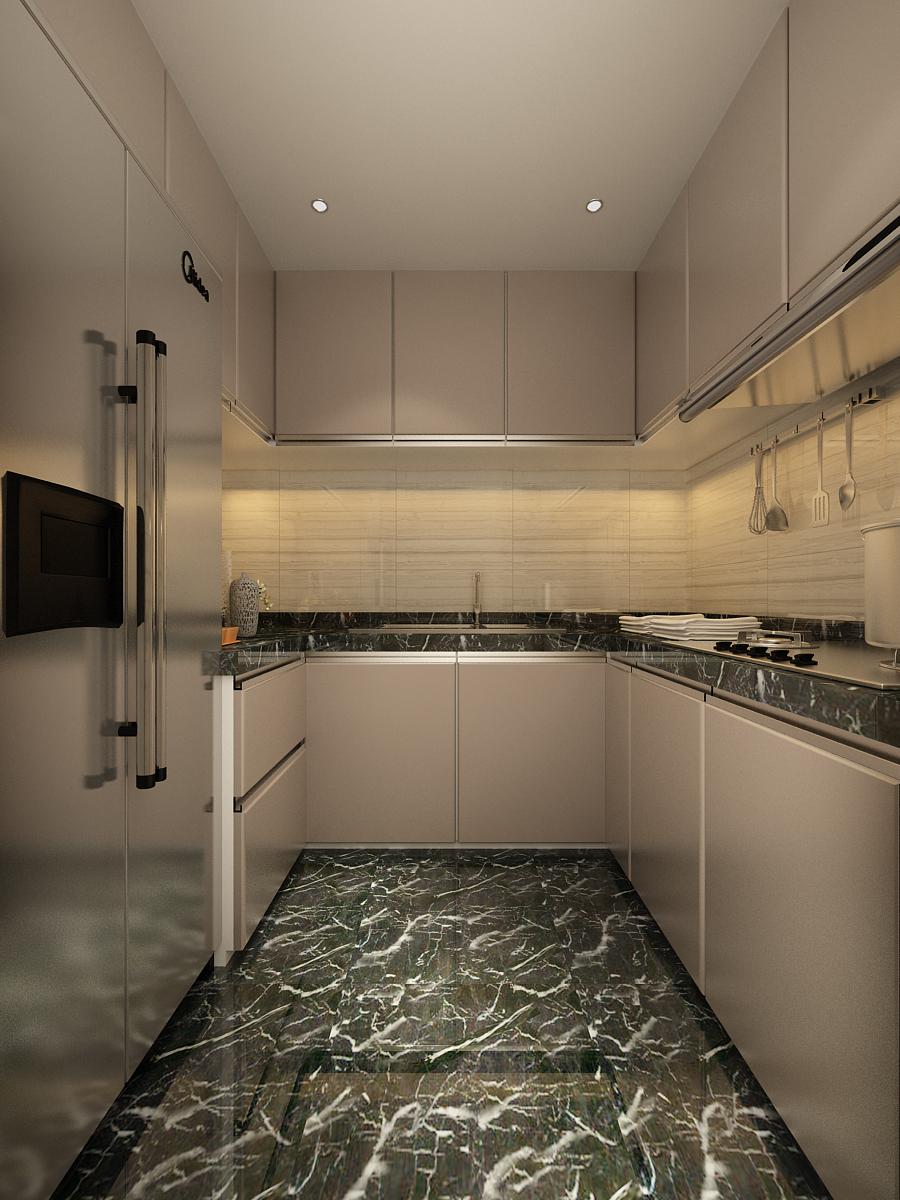 简约 欧式 一居 厨房图片来自轻舟装饰-90后的华仔在北苑家园-66平米-简欧风格的分享