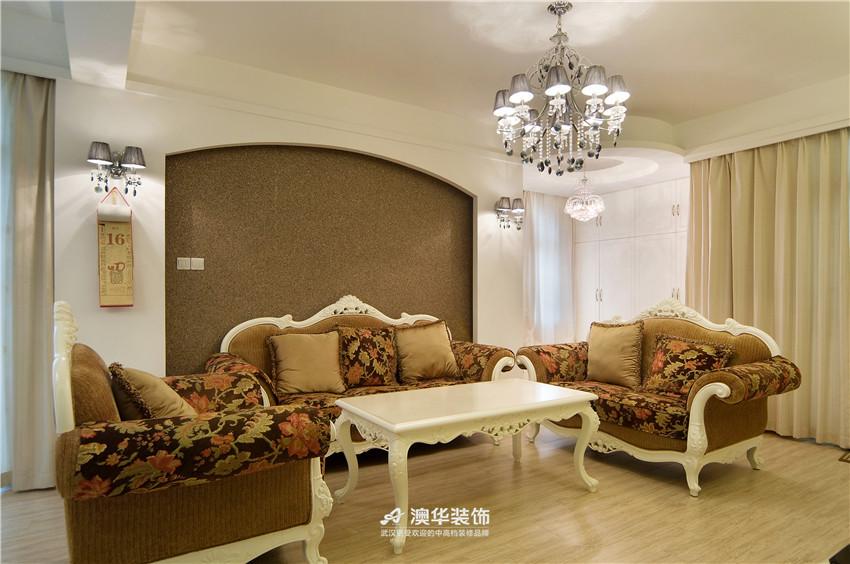 客厅图片来自澳华装饰有限公司在大华南湖公园世家·异域混搭的分享