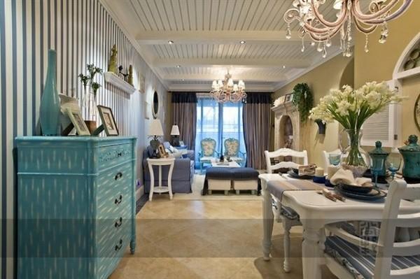 客厅图片来自北京居然元洲装饰小尼在御翠尚府220平米复式地中海的分享