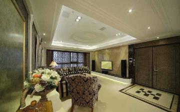 金平小区119平欧式三室装修设计