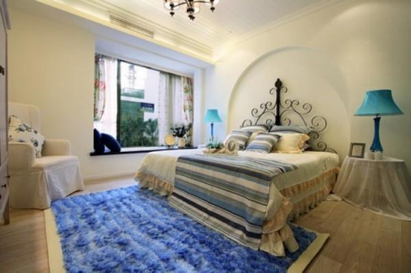 卧室图片来自北京居然元洲装饰小尼在御翠尚府220平米复式地中海的分享