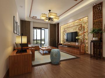 联投金色港湾119平中式三室两厅