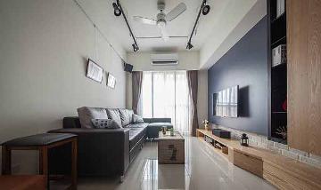 龙柏三村73平美式三居室装修空间