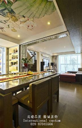 别墅 旧房改造 中式 收纳 舒适 温馨 小资 80后 白领 餐厅图片来自fy1831303388在三利宅院实景照的分享