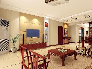 融泽嘉园223平米现代中式风格