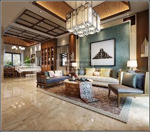 340㎡南亚风格别墅装修案例
