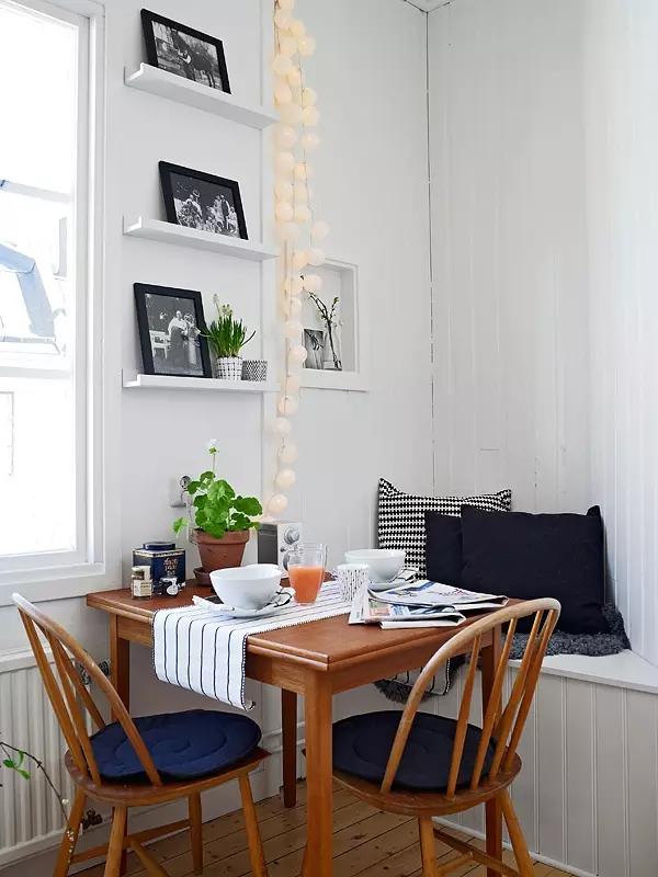 简约 欧式 田园 混搭 二居 三居 别墅 收纳 旧房改造 餐厅图片来自实创装饰晶晶在48㎡摩登公寓的分享