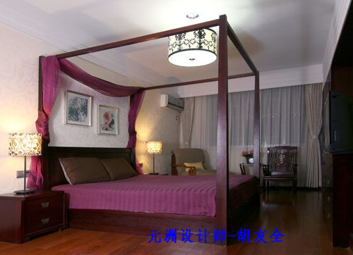 卧室图片来自北京居然元洲装饰小尼在融泽嘉园223平米现代中式风格的分享