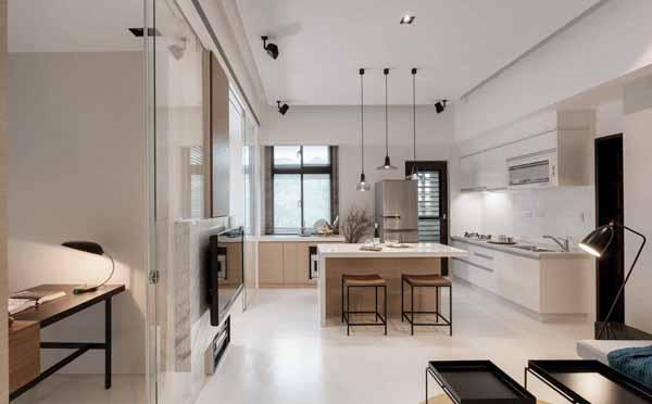 简约 旧房改造 客厅图片来自上海潮心装潢设计有限公司在龙柏二村43平简约一居室装修设计的分享