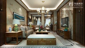 碧桂园别墅-新中式风格装修案例