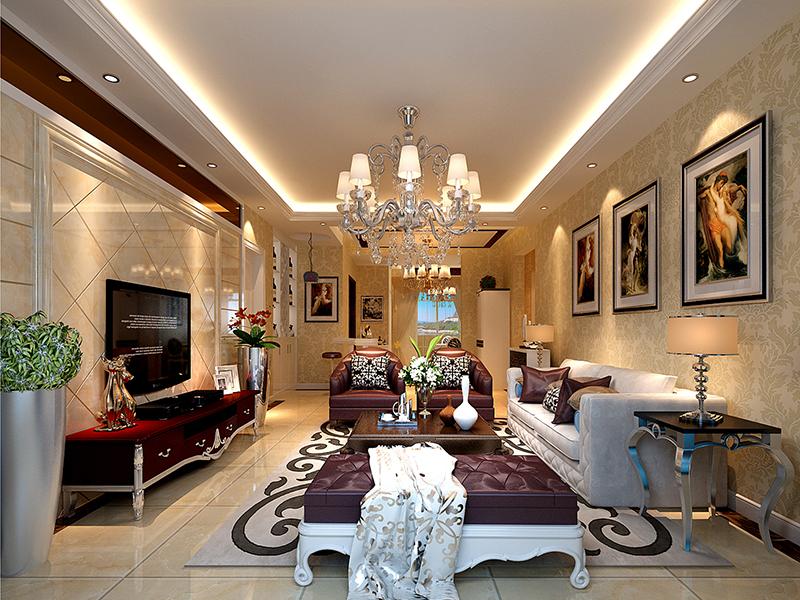 客厅图片来自业之峰装饰旗舰店在日光倾城的分享