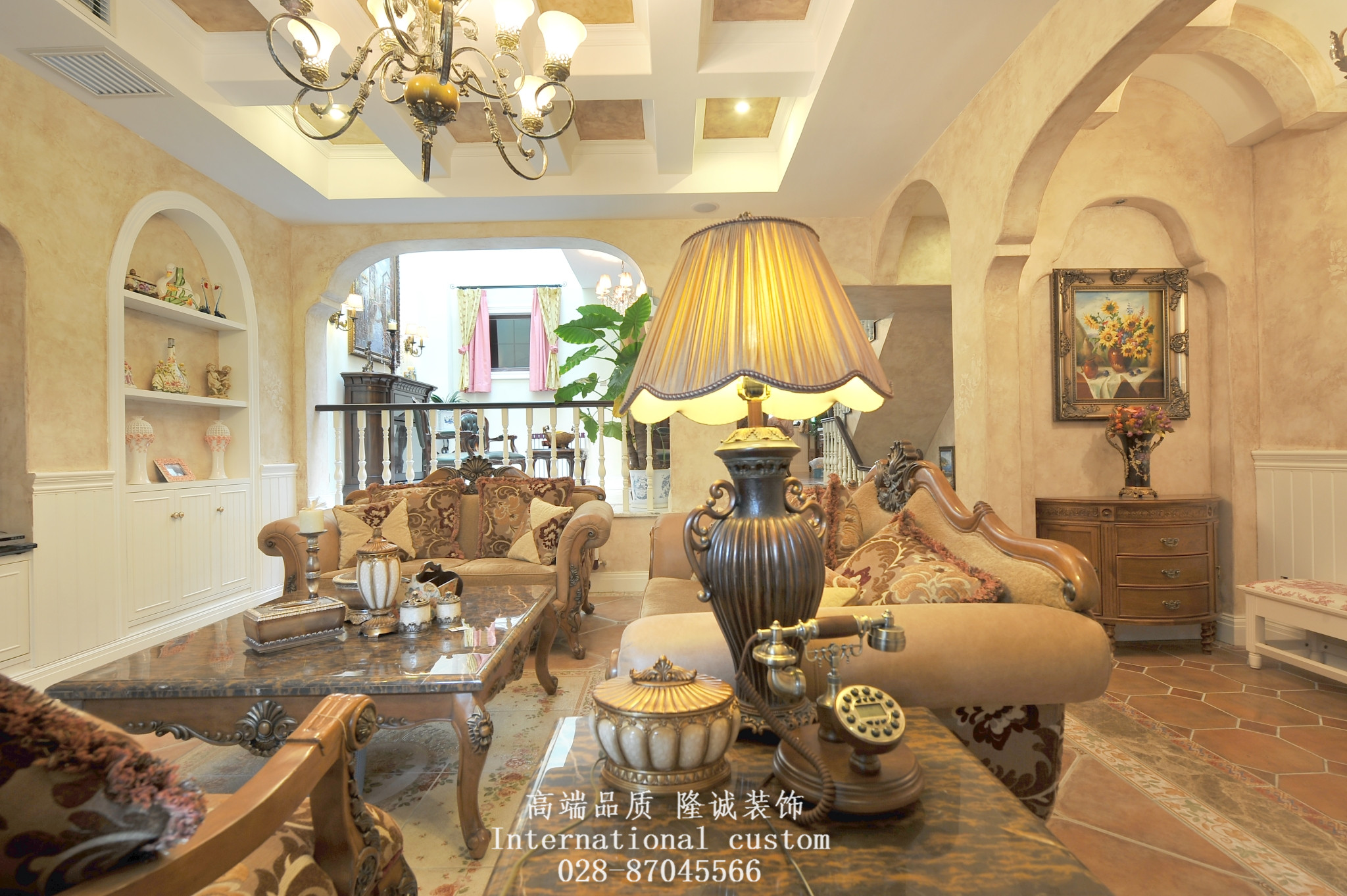 别墅 美式 舒适 温馨 收纳 80后 旧房改造 客厅图片来自fy1831303388在香瑞湖的分享