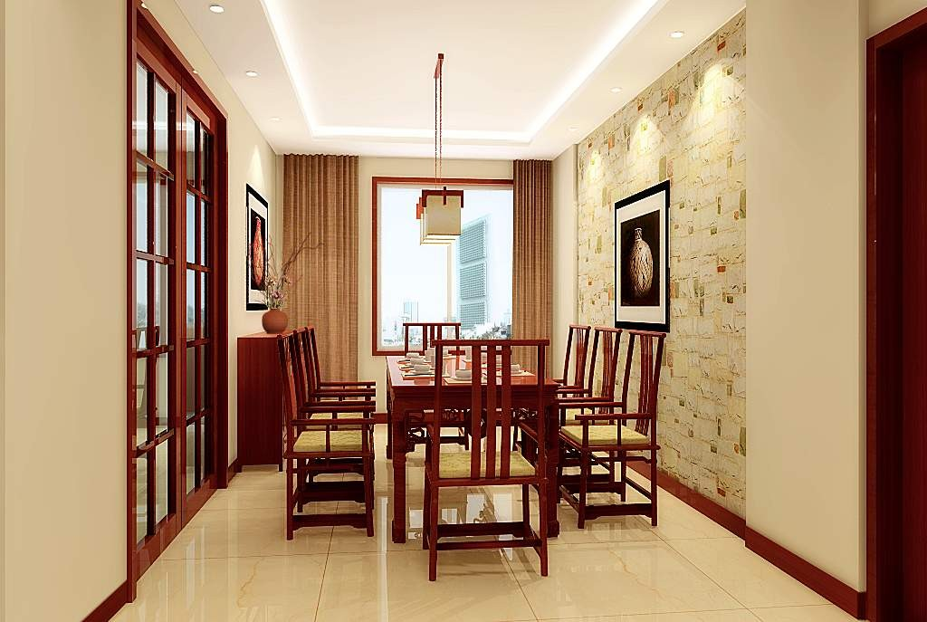 餐厅图片来自北京居然元洲装饰小尼在融泽嘉园223平米现代中式风格的分享